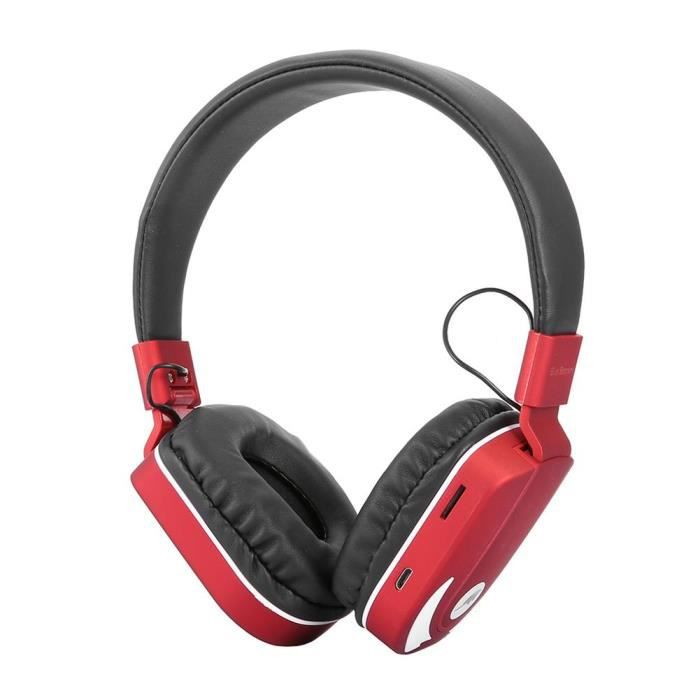 Bs770 Bluetooth Stereo Headset Headphone W-7 Couleur Léger Soutien Tf (rouge)