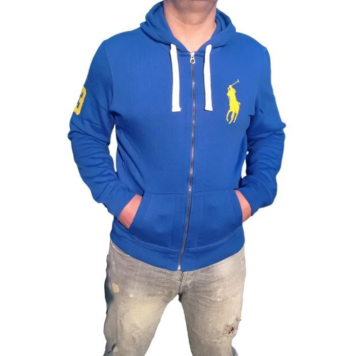 abf03bf973813d Sweat á Capuché Hoodie Ralph Lauren bleu big pony Bleu bleu - Achat ...