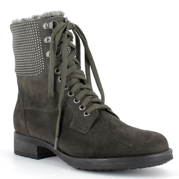 Boots fourrées en cuir Femme REQINS - TULSA PEAU