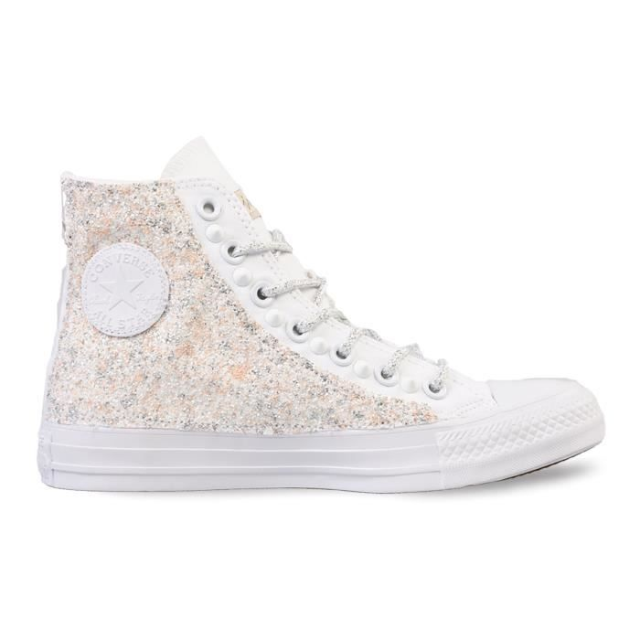 CONVERSE FEMME L05FUNO0100 BLANC COTON BASKETS q82OY