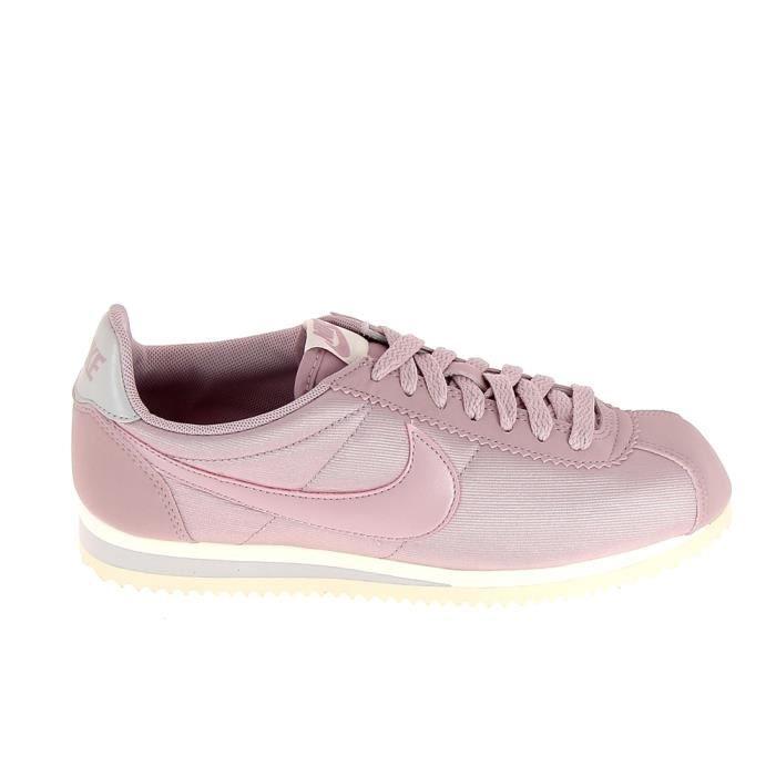 promo code 56f48 33bf9 Basket -mode - Sneakers NIKE Classic Cortez Nylon Rose Poudre 749864 605