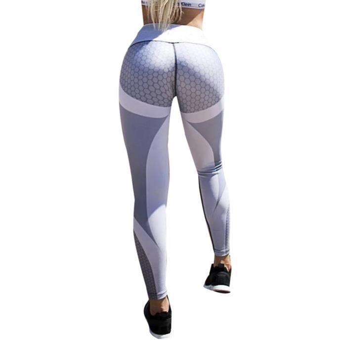 1483f6302 Femmes Leggings de yoga Pantalons d'entraînement Skinny Gris Gris ...