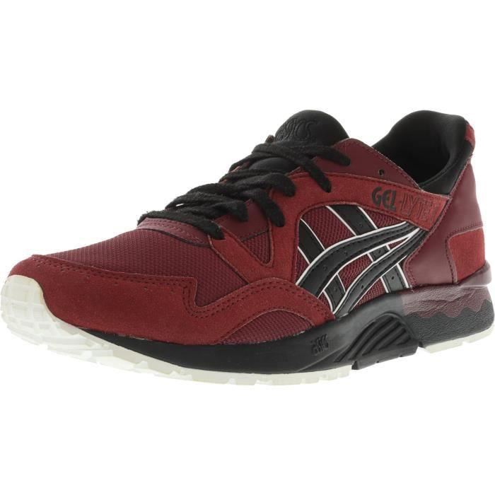 ASICS chaussure de course à talons, gel lyte v, grenade noir, noir 9 m OIK2G Taille M