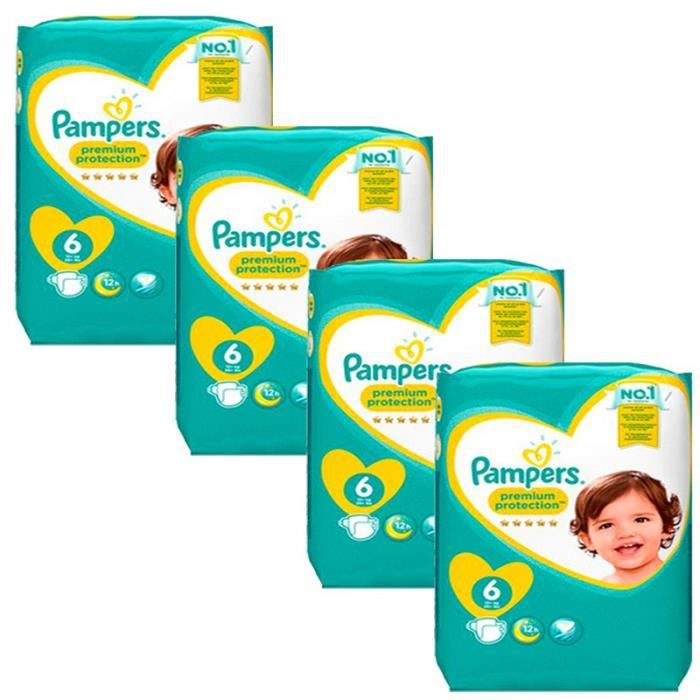 Mega Pack 96 Couches Pampers Premium Protection New Baby Taille 6