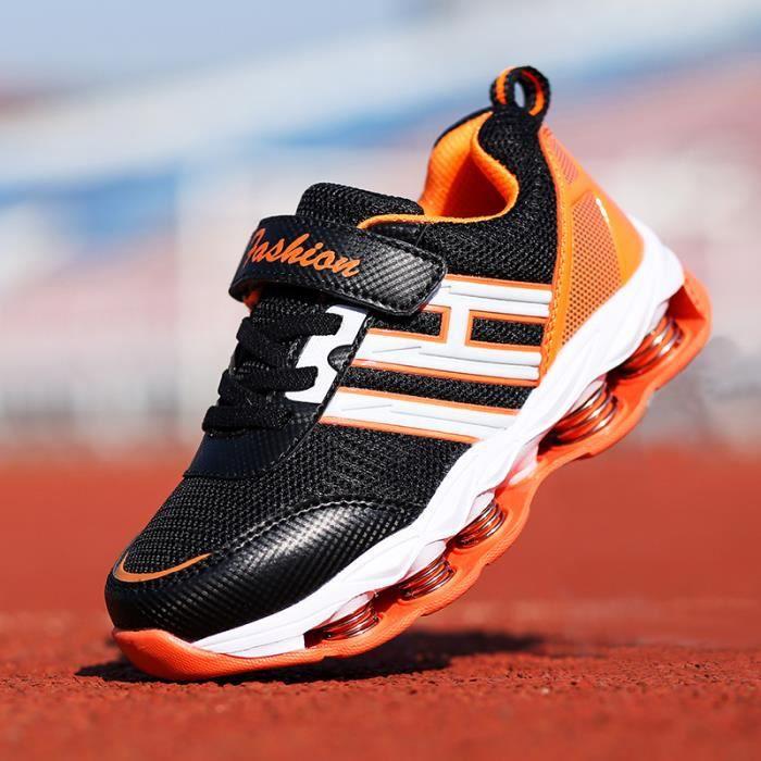 Chaussures de sport pour enfants à la mode Chaussures de course pour enfants à la respiration respirante pour le repos Chaussures de