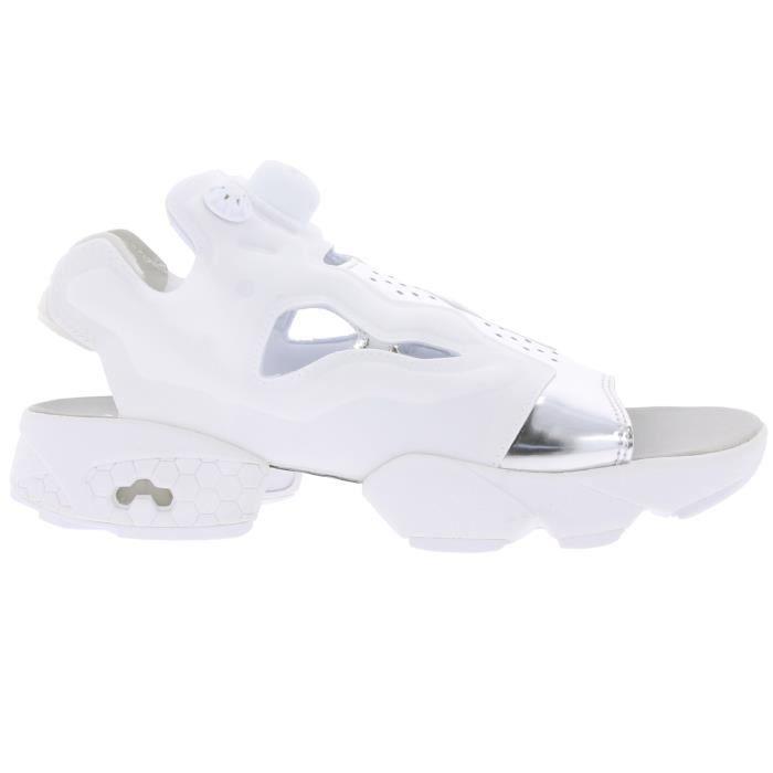 Reebok Classic Instapump Fury Sandal Mag Sandale pour femme Blanc avec bride au talon no0QGxAE5I