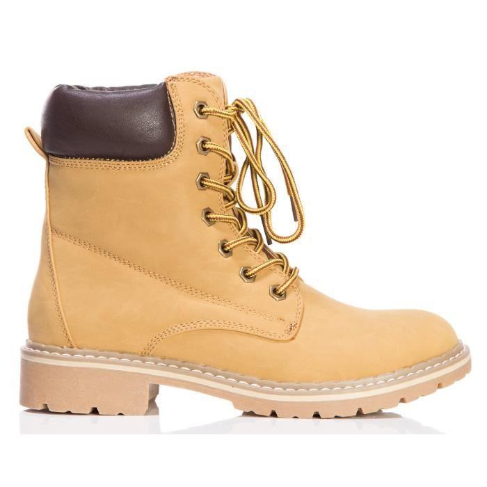 Combat lacent rembourré travail extérieur Chaussures Bottines courtes G7G86 Taille-39 1-2