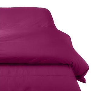 Housse de couette 220x240 violet achat vente housse de couette 220x240 violet pas cher - Housse de couette percale 220x240 ...