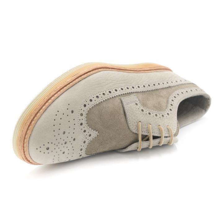 Corvari scarpa Richelieu cuir scamosciata Fait en Italie ghiaccio art.2572 T. 40