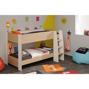 lit superpose avec rangement achat vente lit superpose avec rangement pas cher cdiscount. Black Bedroom Furniture Sets. Home Design Ideas