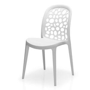 CHAISE Chaise blanche design en polypropylène VAISON (Lot