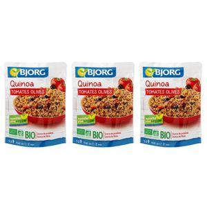 CÉRÉALES - MÉLANGES BJORG Quinoa Tomates Olives Bio 250g