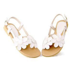 SANDALE - NU-PIEDS 4 couleurs-Sandales femmes été fleur chaussures de
