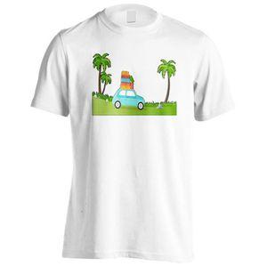 T-SHIRT T-shirt -Nouvelle voiture ensoleillée avec valises