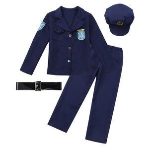 DÉGUISEMENT - PANOPLIE Déguisement Policier Enfant Garçon Chef Officier C