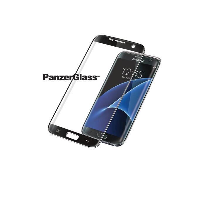 PANZERGLASS Protection premium en verre trempé pour Galaxy S7 Edge - Noir