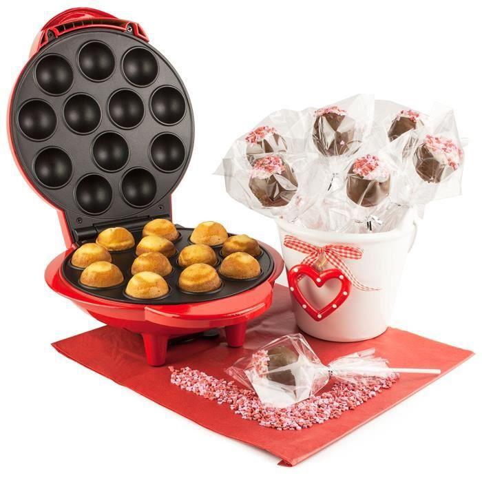 Andrew James – Appareil À Cake Pops En Rouge Pour 12 Cake Pops ...
