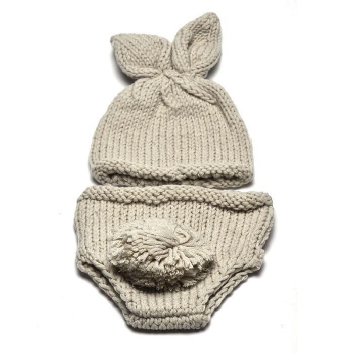 Nouveau-né Bébé Fille Garçon Lapin Crochet Tricot Costume Photographie  Photo Prop be543 15868e327f7