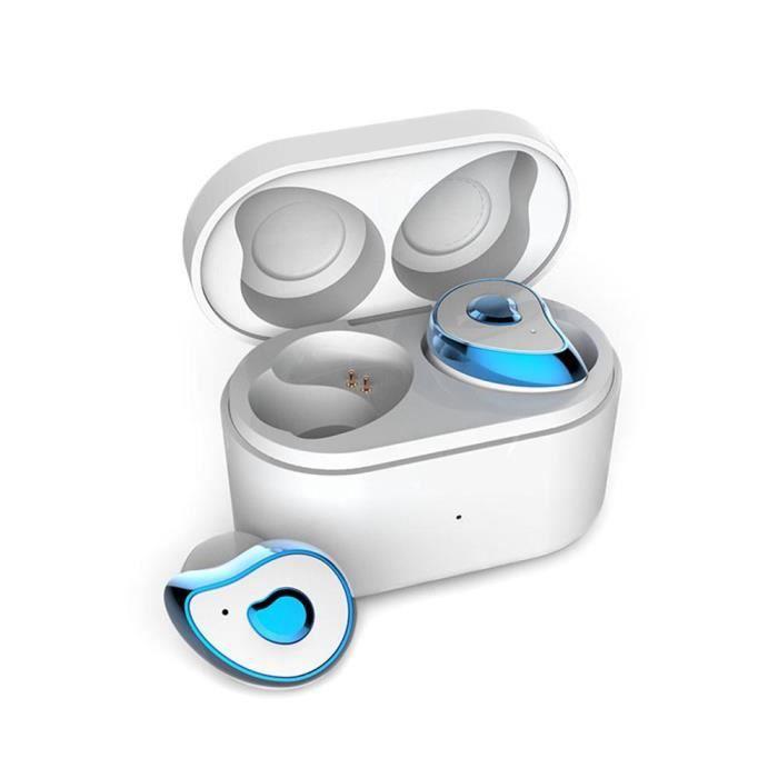 Efuture Casque Bluetooth Sans Fil Se6 Bleu Fluorescent