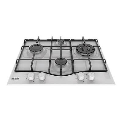 PLAQUE GAZ Hotpoint - tables de cuisson gaz 60cm 4 feux blanc