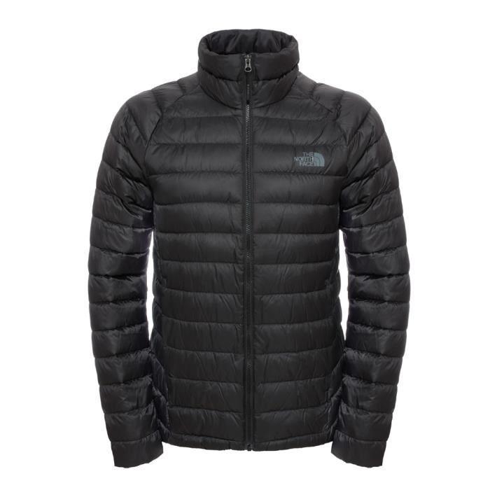 7af10fd12b Doudoune en duvet The North Face Trevail Jacket Noir Noir - Achat ...
