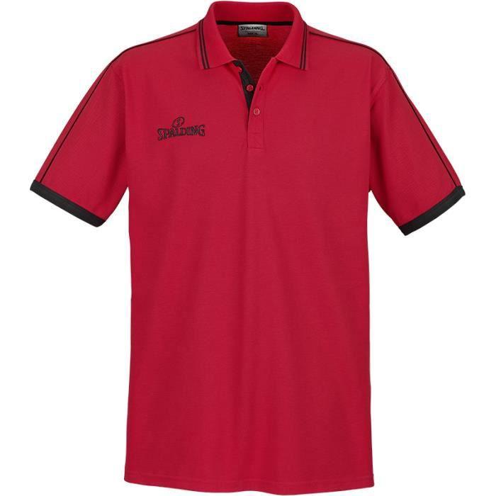 Polos à manches courtes Spalding rouges homme ecbeS