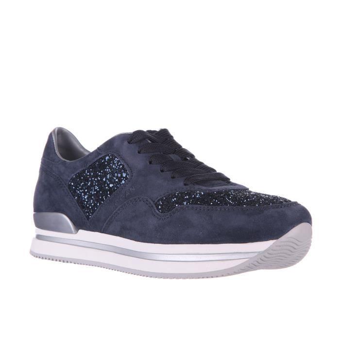 Chaussures baskets sneakers femme en daim h222 glitter Hogan