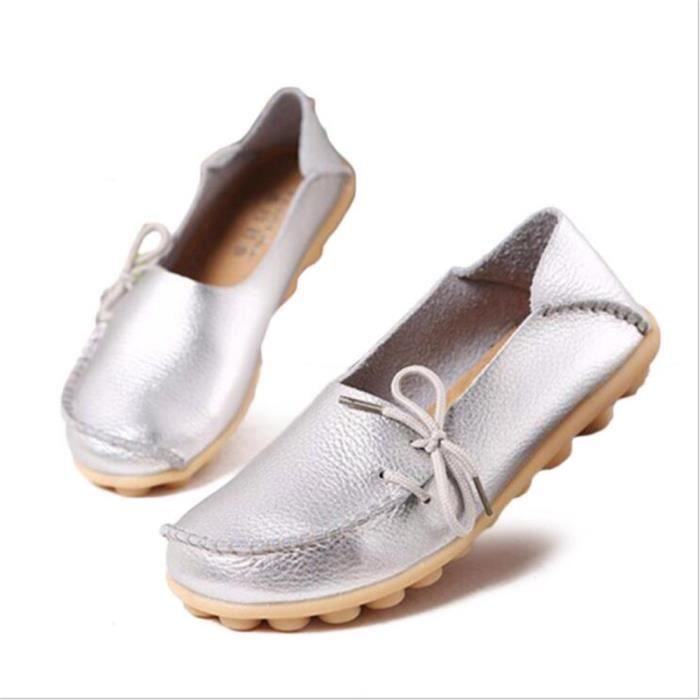 Loafer femmes Marque De Luxe Nouvelle arrivee Grande Taille chaussure Meilleure Qualité chaussures plates Confortable qZCEe96