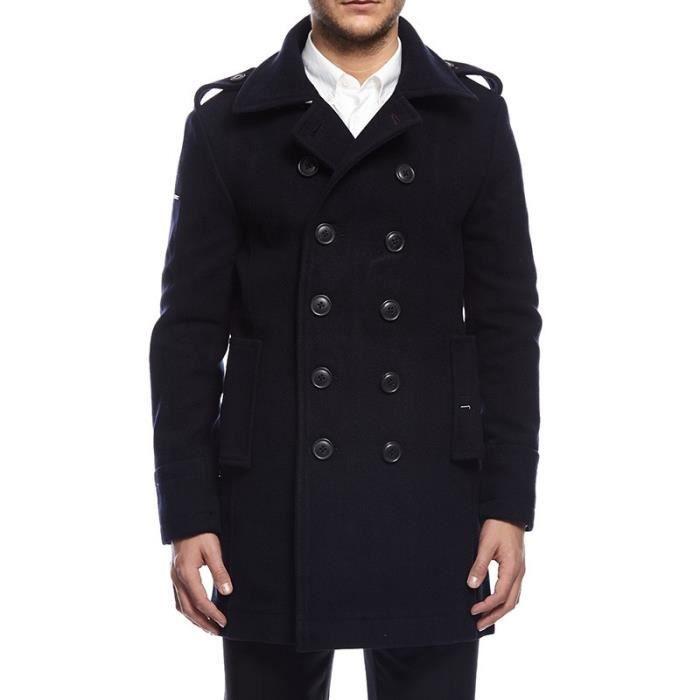12fd008d00c6 Caban Bridge Coat Marine Homme Superdry Bleu - Achat   Vente manteau ...