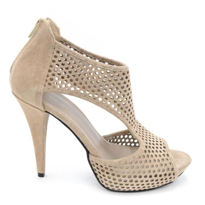 Keys Sandale schiava femmecuir marrone a caviglia Fait en Italie art.5941 T. 39 pl49Usf