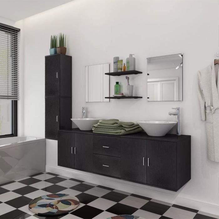 Robinetterie murale salle de bain noir - Achat / Vente pas cher
