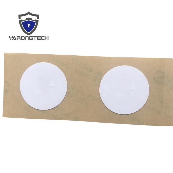 NTAG216 Tag NFC 888 Octets 25mm De Diametre Fonctionne Avec Tous Les Telephones Lot 10