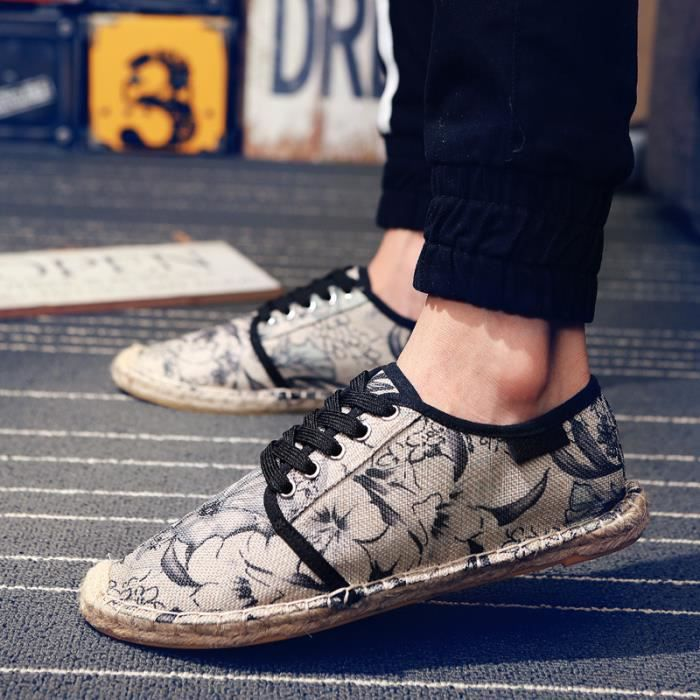 Mode Femmes Chaussures Plates Impression Hommes...