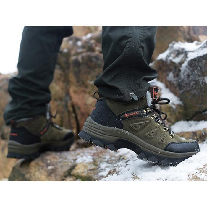 Homme Espadrille Grande Taille Aide élevée Impermeable Velours Chaussures de marche Outdoor Randonnée Camping Escalade Unisexe 1ycqid
