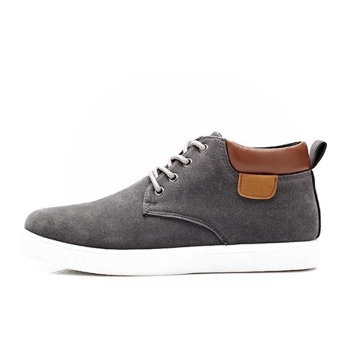 Chaussures En Toile Hommes Basses Quatre Saisons Populaire BSMG-XZ116Gris42 52TpRhM