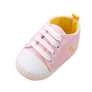 BOTTE Nouveau-né Infantile Bébé Filles Crib Chaussures Doux Semelle Anti-slip Sneakers Bandage Chaussures@RougeHM 7vWvXFRw4
