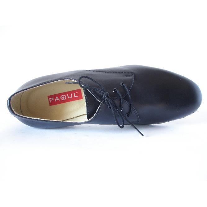 Danse chaussures Homme Paoul, cuir noir souple et semelle flexible - 2