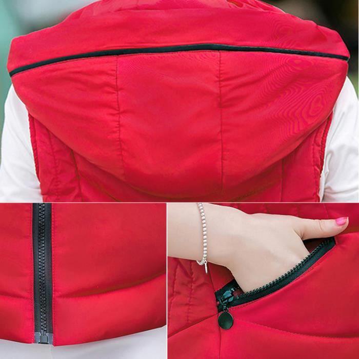 Pour Gilet Capuche Grande En Femme Couleur De À Unie Doudoune Mince Taille Coton Sport Nouveau 64zWn0WP