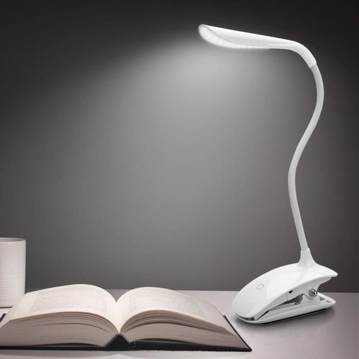 Lampe Clipsable Lecture Liseuse Led Rechargeable Lampe Flexible