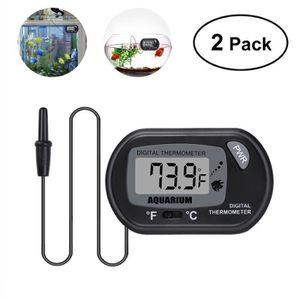 DÉCO ARTIFICIELLE UEETEK 2 Pcs LCD Thermomètre Numérique pour Aquari
