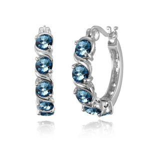 161 Le Plus Grand Confort Articles De Joaillerie Mystic Topaz 925 Sterling Silver Boucles D'oreilles Bijoux