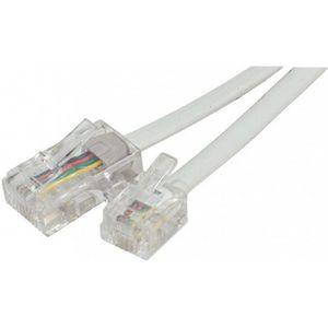 CÂBLE RÉSEAU  Cable RJ45 RJ11 téléphone 15m blanc