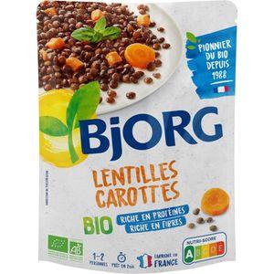 PLAT LÉGUMES - FÉCULENT BJORG Lentilles carottes bio - 250 g