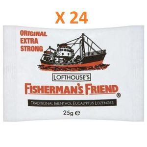 RHUME - TOUX - GORGE Fisherman's Friend Lozenges Original Extra Strong