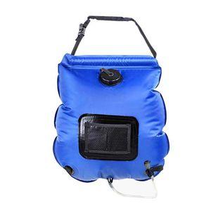 3a036edbec Sac de l'eau de douche solaire extérieure portable 20L Bleu - Prix ...