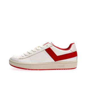 BASKET PONY SNEAKERS Homme WHITE RED, 45