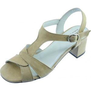 SANDALE - NU-PIEDS ASAP – Sandales souple talon stable chaussures con