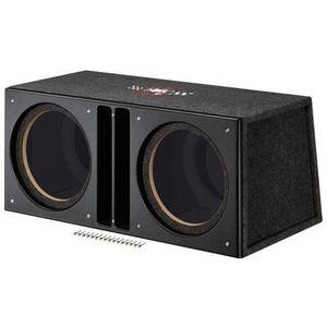 HAUT PARLEUR VOITURE Caisson Double Vide Bass Reflex - Diam. 2x30cm
