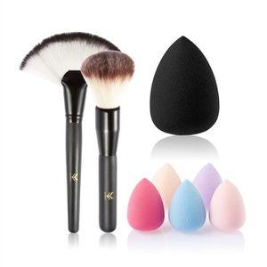 PINCEAUX DE MAQUILLAGE Pack de 3pcs Outils de maquillage Set de brosse av