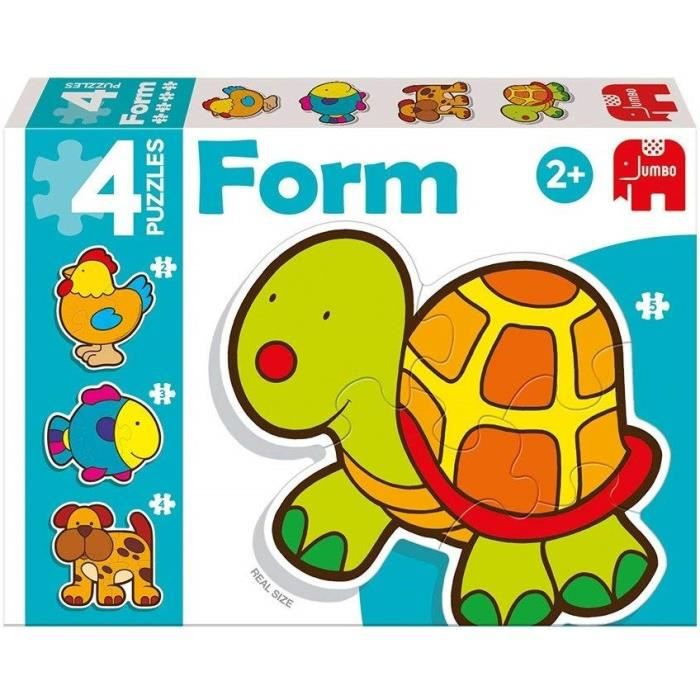 DISET 4 Puzzles Animaux Form Baby Tortue